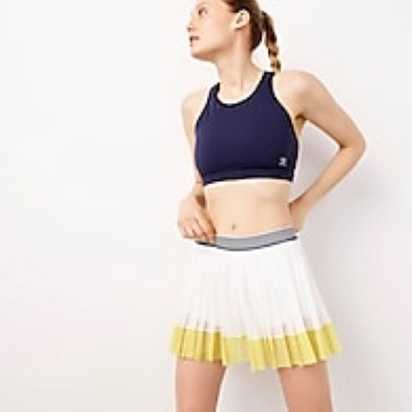 J. Crew Dresses & Skirts - J.Crew X New Balance yellow tennis skirt shorts